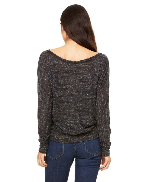 Bella Ladies' Flowy Long-Sleeve Off Shoulder T-Shirt