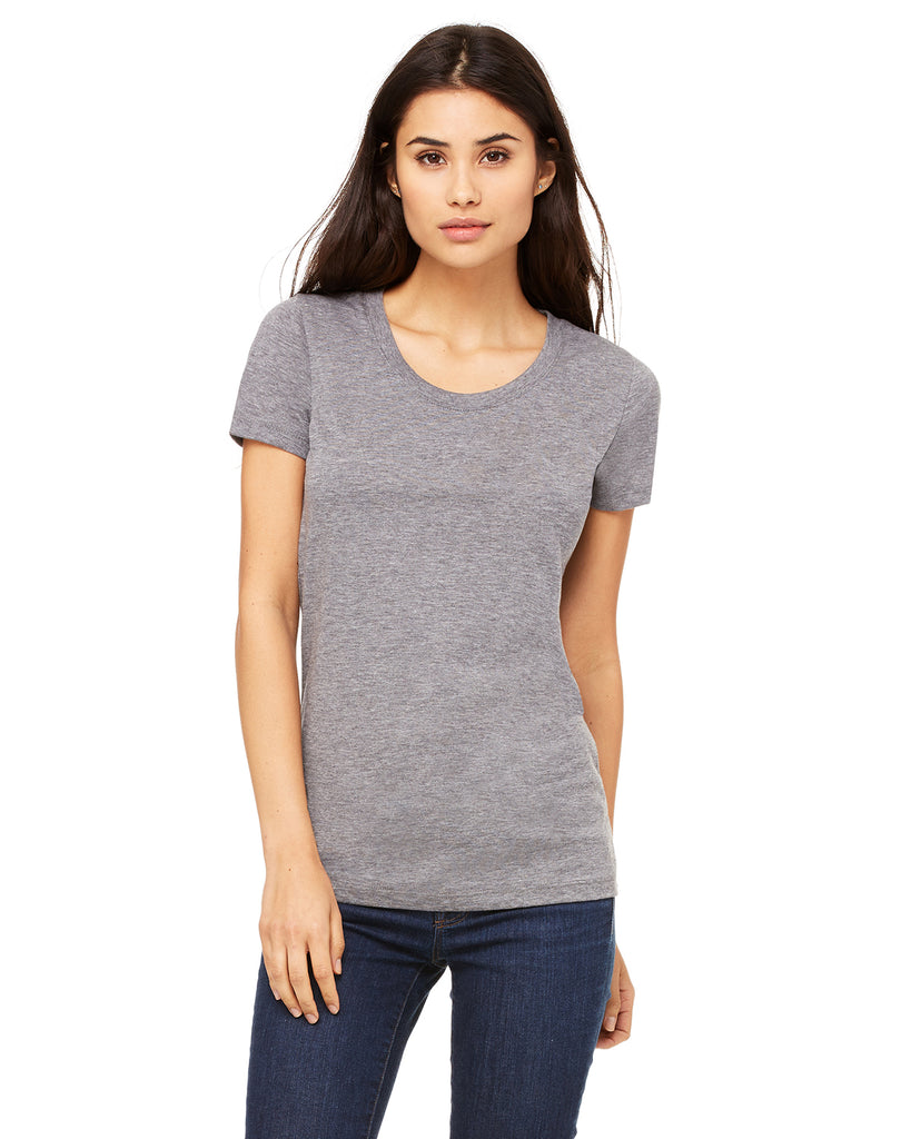 Bella Ladies Tri-Blend Crew Neck