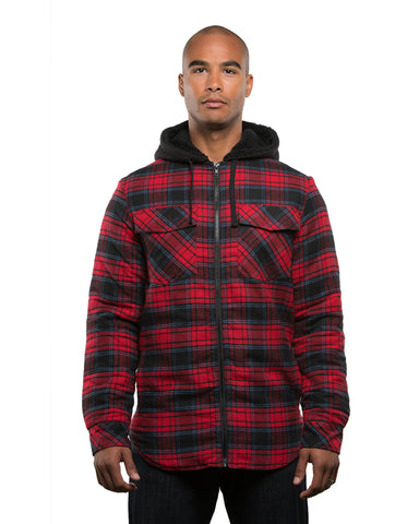 Burnside Men's Hooded Flannel Jacket