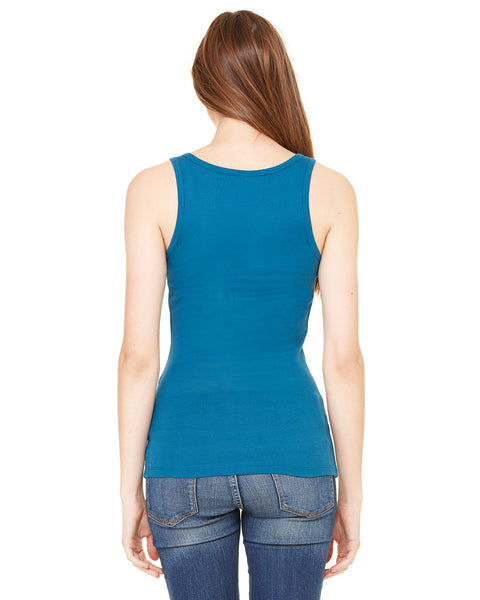 Bella Ladies' Sheer Mini Rib Tank