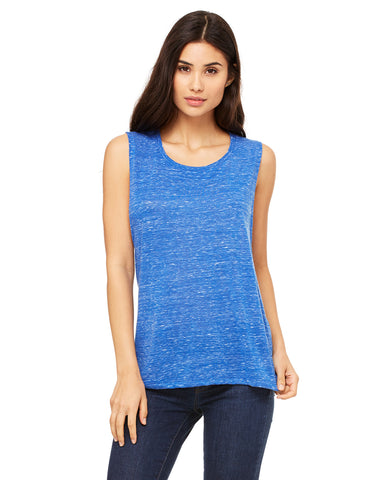 Bella Ladies' Flowy Scoop Muscle Tank