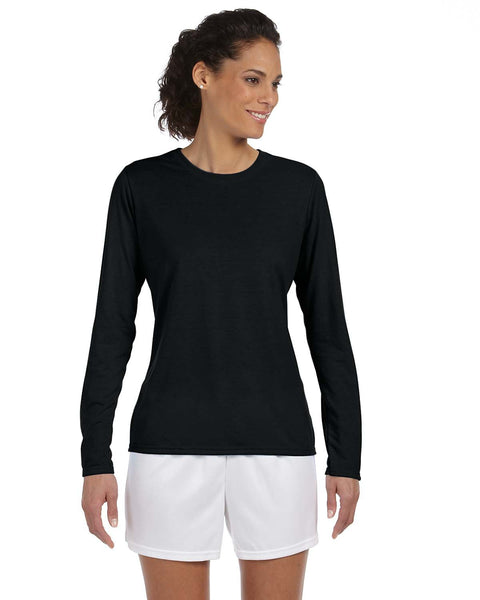 Gildan Ladies Relaxed Perfromance Dry Wicking Long Sleeve