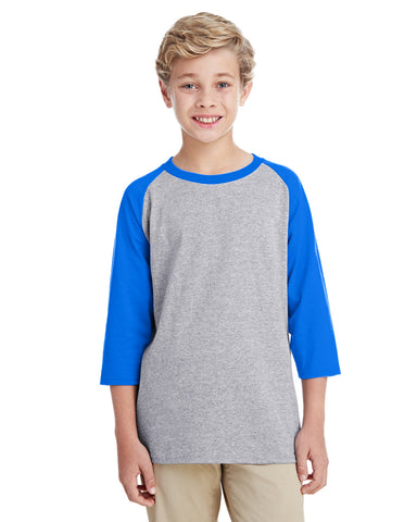 Gildan Youth 3/4-Raglan Sleeve T-Shirt