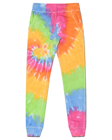 Ladies Tie Dye Sweatpants Closed Bottoms