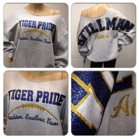 Stillman bling sweatshirt | stillman university Glitter sweatshirt