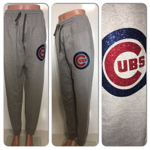 Cubs glitter sweatpants