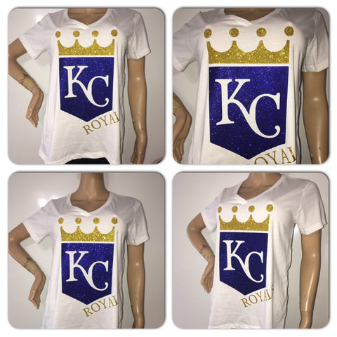 Royals glitter t-shirt | Kansas City royals |