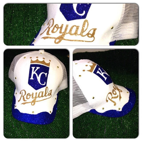 Royals bling trucker hat | Kansas City Royals glam snap back