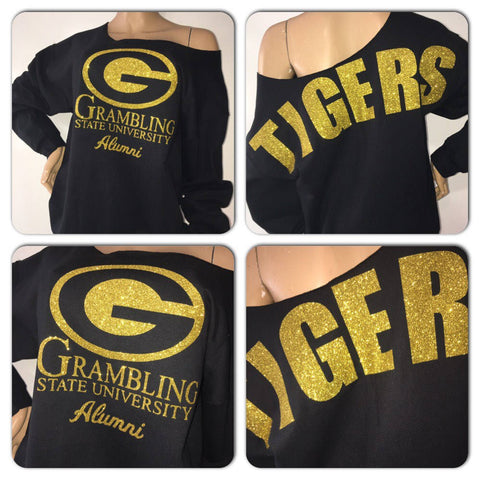 Grambling State University Tigers Glitter Sweatshirt