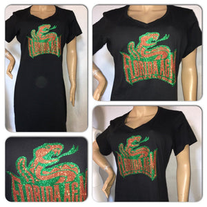 FAMU tshirt dress | Florida State University apparel | custom ladies vneck dress