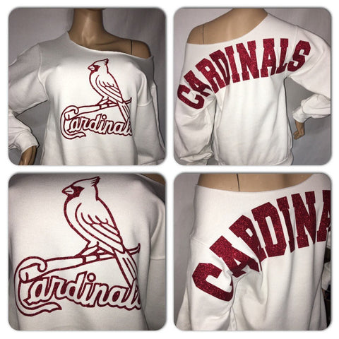 Cardinals glam sweatshirt