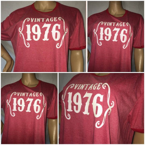 Vintage Birth year Tee | Custom birthday tee