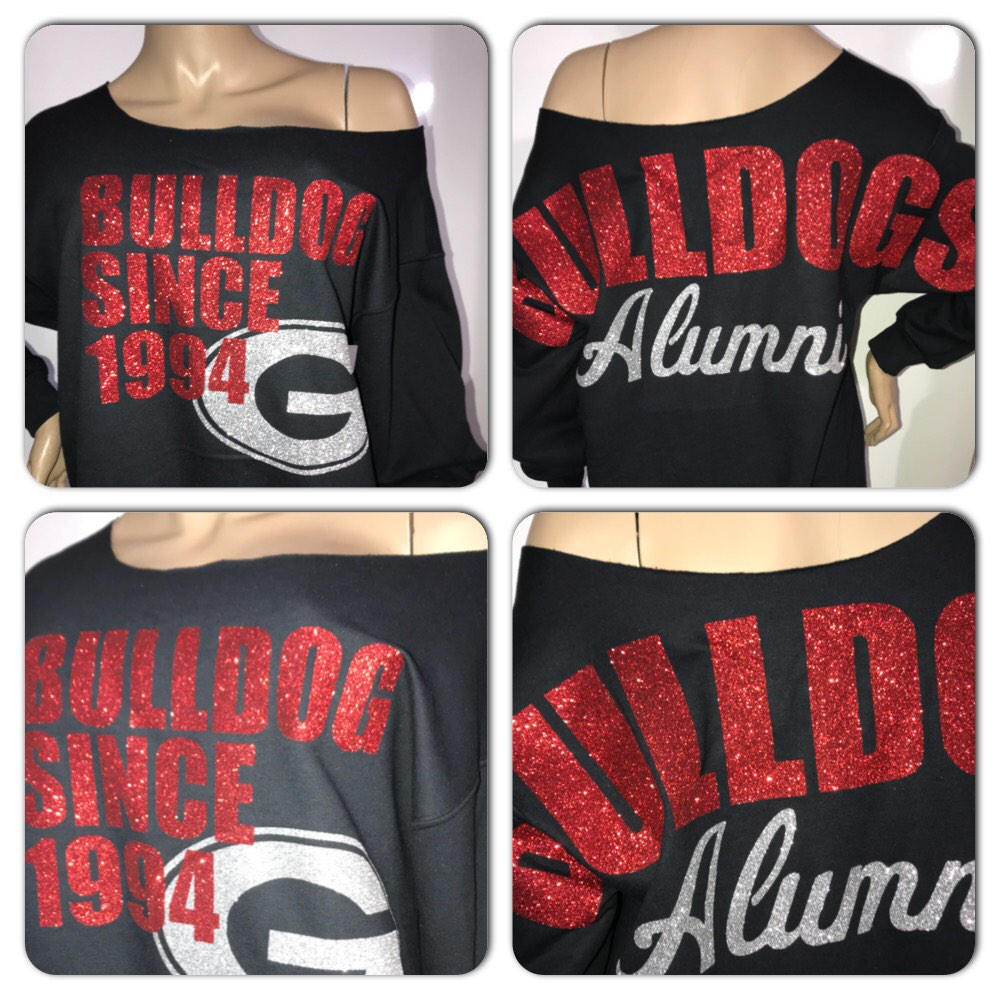 Georgia bulldogs personalized glitter sweatshirt