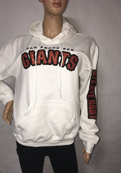San Francisco Giants Glitter Hoody Sweatshirt |  | Giants glam sweatshirt | baseball glitter hoody