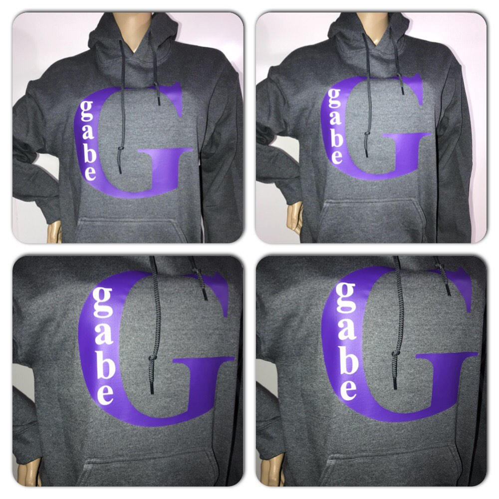 Custom monogram hoody sweatshirt | Personalized sweatshirt