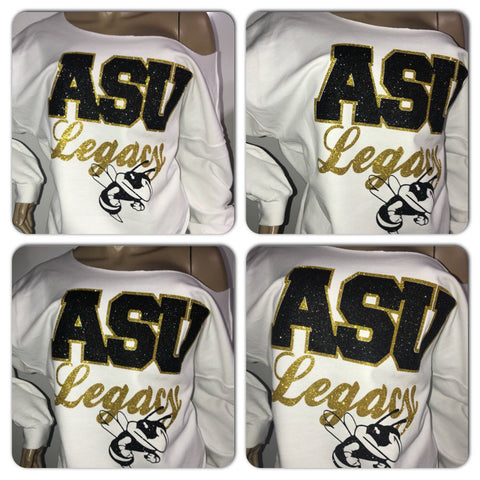 Alabama State University Glitter Sweatshirt