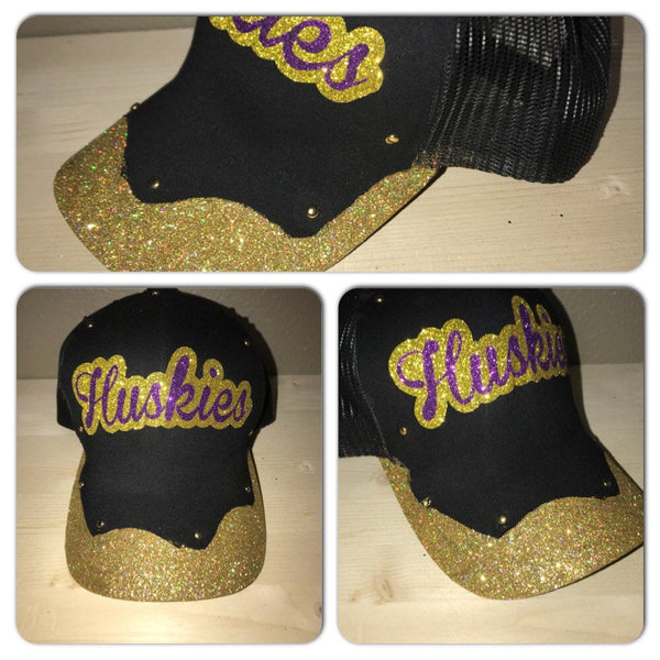 Custom Glitter Hat | Team hats | Glam Snapbacks |