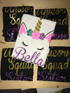 Unicorn Squad Tee  // Birthday  shirts // Bridal group shirt // Order instructions in photos