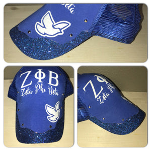 Zeta Phi Beta Glam snapback hat | Sorority Glitter trucker hat | dovely | Sorority apparel