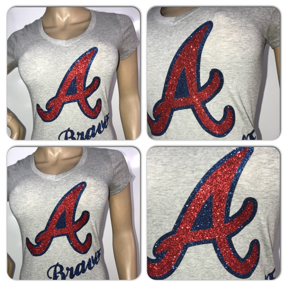 Atlanta Braves glitter t-shirt
