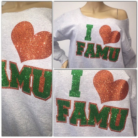 Famu bling sweatshirt | Florida A&M Glitter sweatshirt