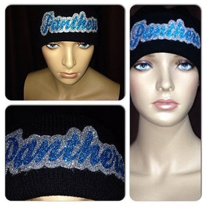 Panther Bling Beanie | Panthers Glitter Hat | Glitter beanie