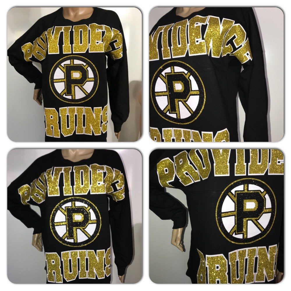 Providence Bruins Pom Pom Jersey|  glitter hockey game day jersey | NHL jerseys