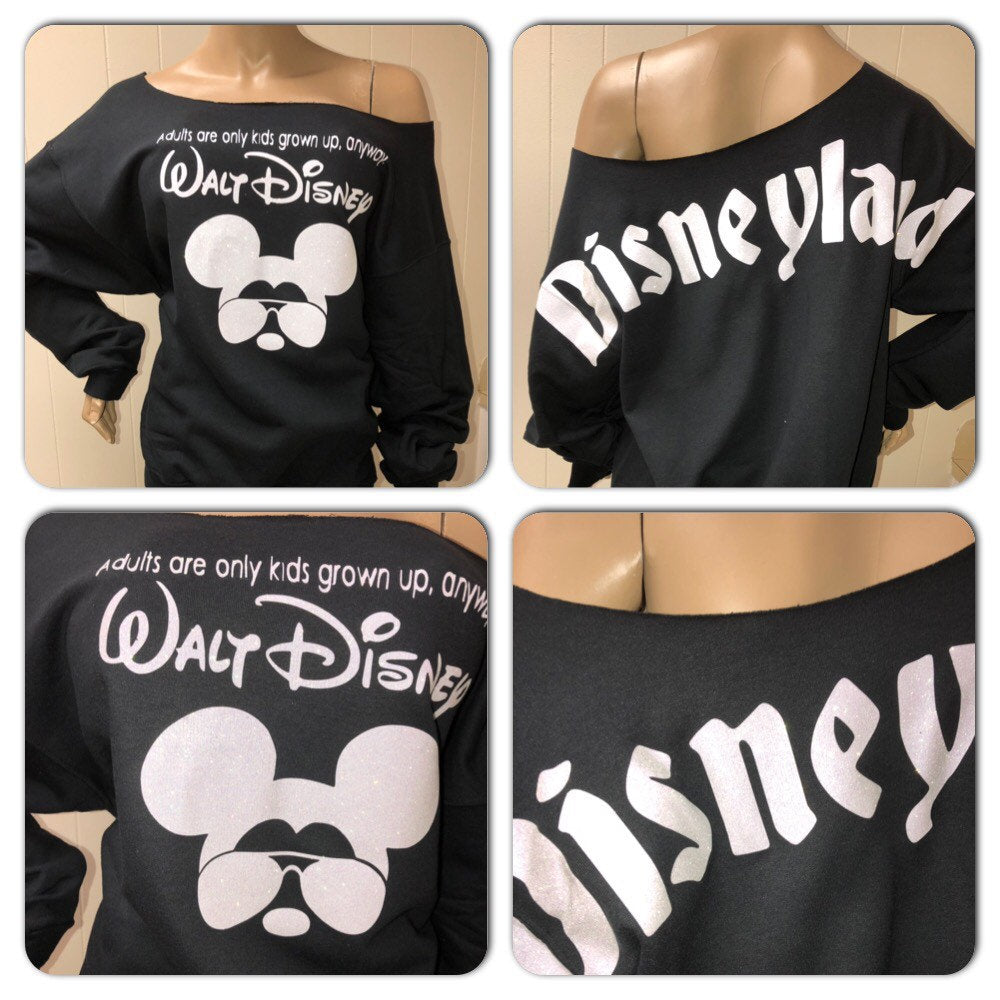 Mickey bling sweatshirt | Disneyland Glitter sweatshirt | minnie | walt disney