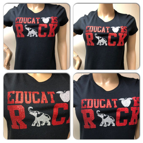 Delta Sigma Theta Educators Rock Glitter Tshirt