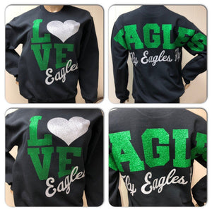 Eagles LOVE Glam oversized print sweatshirt | Fly Eagles Fly
