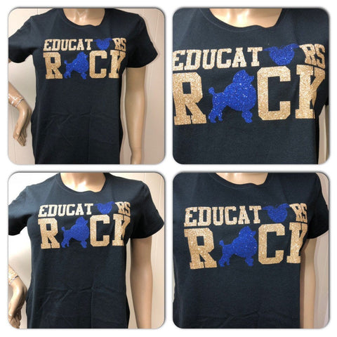 Sigma Gamma Rho glitter t-shirt perfect for the Sigma Educator!!