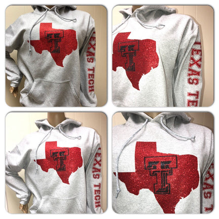Texas Tech bling sweatshirt | Texas Tech  Glitter sweatshirt