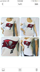 Bucs Fitted Logo Tee