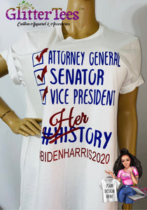 HERstory Election Red, White & Blue Glam Tee