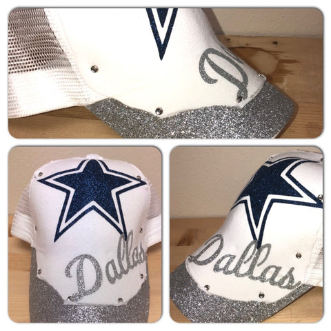 Cowboys Glam Glitter trucker hat