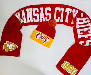 Chiefs Glam Beanie & Scarf Set