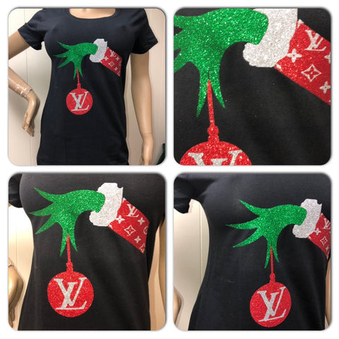 Grinch LV Ladies Relaxed Crew Neck