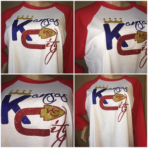 Kansas City Chiefs/Royals Duo Glam Baseball tee