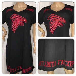 Falcons  Glam T-shirt Dress