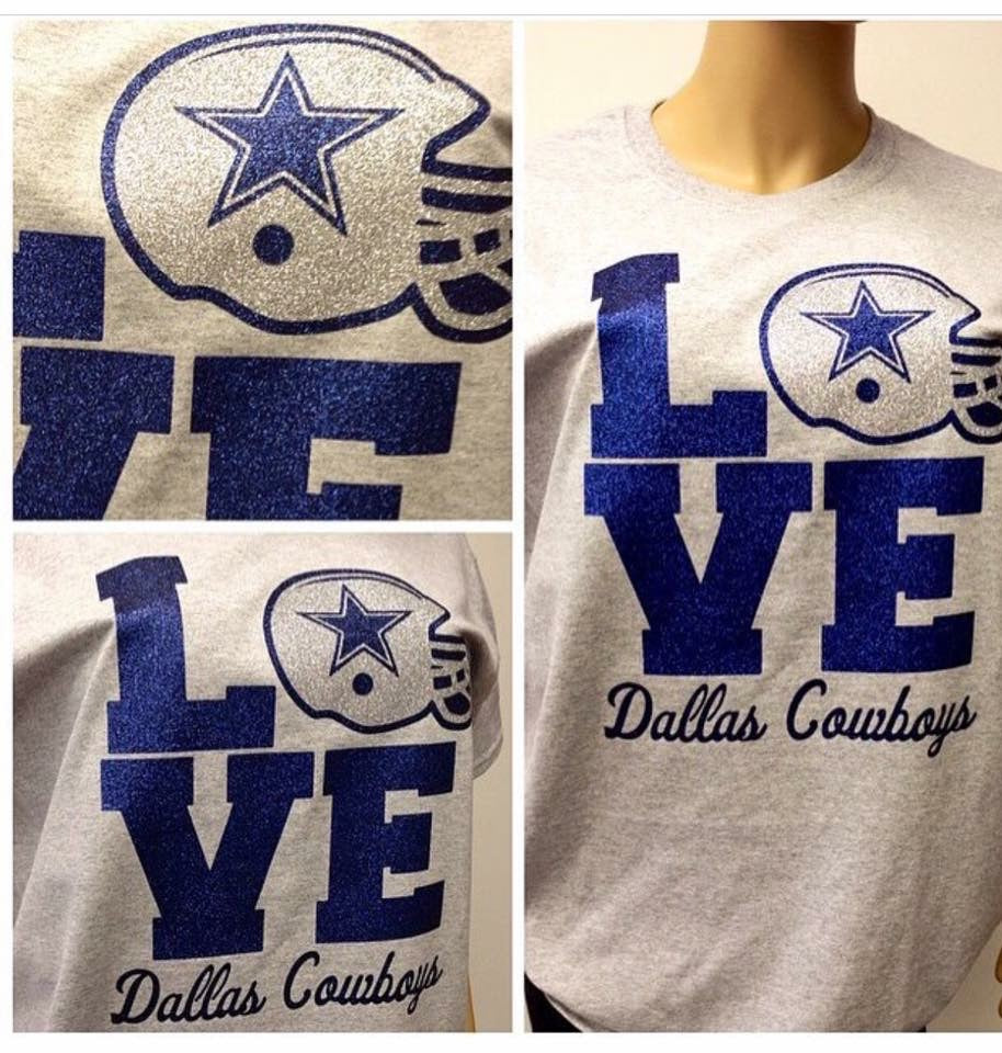 Cowboys LOVE Stacked Glam Tee