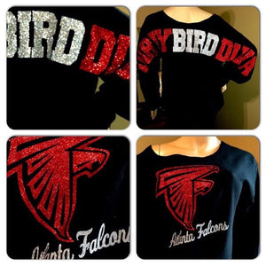 Falcons Dirty Bird Oversized Print Sweatshirt ( Front & back)