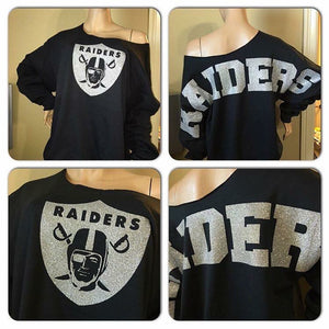 Raiders Oversized Print Sweatshirt ( Front & back)