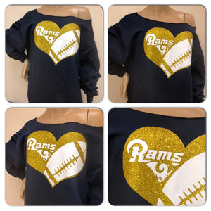 Rams Heart Glam Sweatshirt