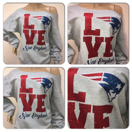 Patriots Love Glam Sweatshirt