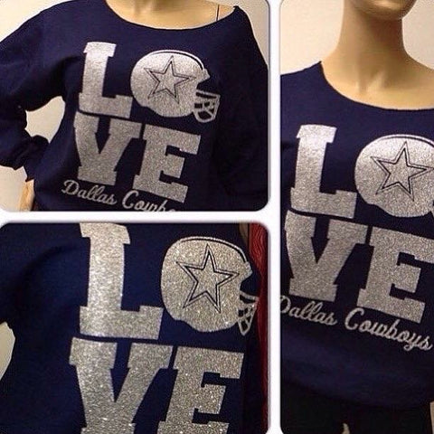 Cowboys LOVE Stacked Glam Sweatshirt