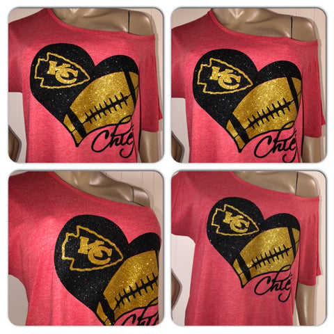Chiefs Off the Shoulder Tee