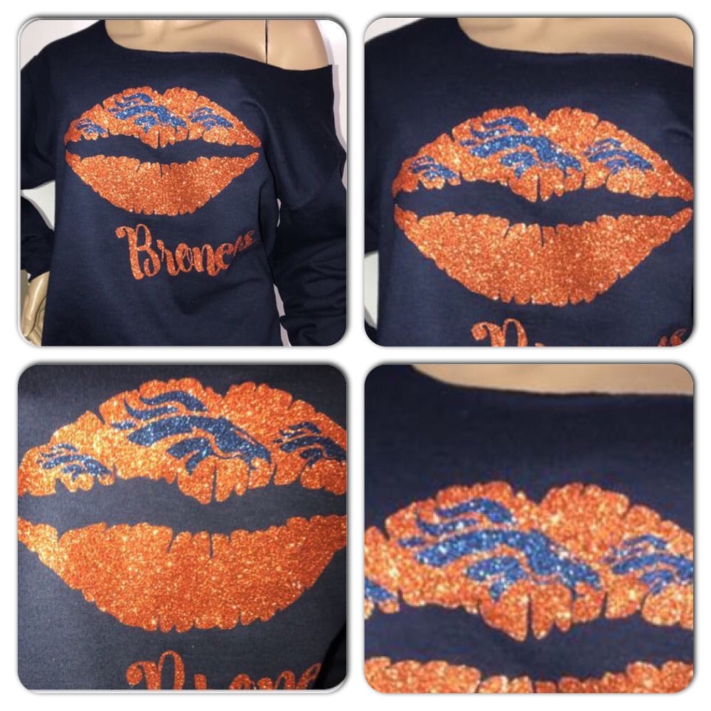 Broncos Kiss Glam Sweatshirt (front only)