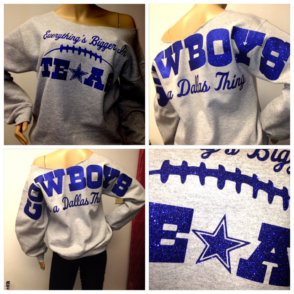 Cowboys 'Bigger' Oversized Print Sweatshirt ( Front & back)