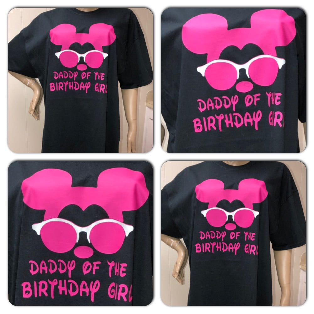 Disney Dad Neon Birthday unisex crew neck