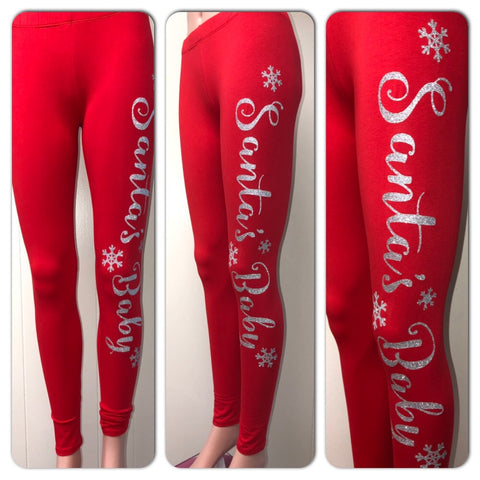 Santa's Baby Glam Leggings